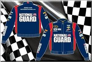 2014 Dale Earnhardt Jr. National Guard Mens Navy Twill Nascar Jacket XL by J.H. Design
