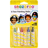 Snazaroo Face Painting Sticks 6/Pkg-Green/White/Red/Yellow/Blue/Black