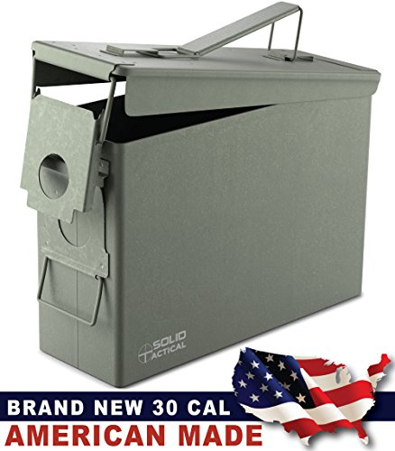 New Solid Tactical .30 Cal Ammo Can M19A1 Waterproof Storage for Ammunition - Made in USA by Milspec Military Manufacturer (Ammo Can Lock Kit compare prices)