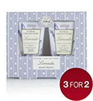 Floral Collection Lavender Hand Treats Gift Set