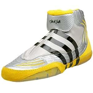 adidas Men's AdiSTRIKE John Smith Wrestling Shoe,Silver/Sun.Black,6.5 M US