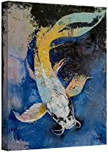 Artwal Dragon Koi Gallery Wrapped Canvas Art by Michael Creese 14 x 18 Inch