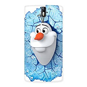 Snowy Olfa Multicolor Back Case Cover for One Plus One