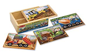 Melissa & Doug Deluxe Construction in a Box Jigsaw Puzzles by Melissa & Doug