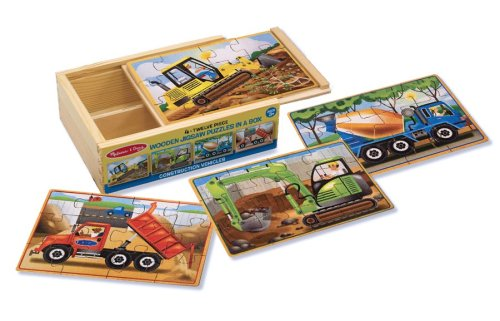 Melissa & Doug Construction Vehicles 4-in-1 Wooden Jigsaw Puzzles (48 pcs) (Melissa Doug Tool Box compare prices)