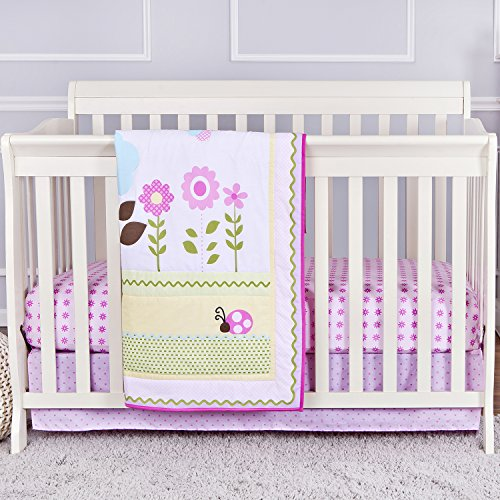 Dream On Me Baby Owl 3 Piece Reversible Full Size Crib Bedding Set - 1