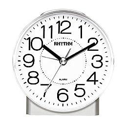 RHYTHM Silent Quartz Alarm Clock, Cute Little Penguin Night Light Student Children (CRE855NR03)
