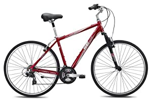 SE Bikes Palisade 21-Speed Comfort Bicycle, 17-Inch, Red by Bicycle Plus