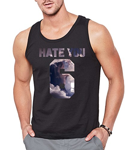 HATE YOU 6 Men's CLASSIC TANK TOP Sleeveless T-Shirt Nero X-Large