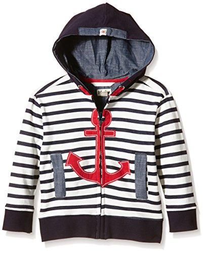 Hatley Kids Boy's Retro Nautical Full Zip Hoodie (Toddler/Little Kids/Big Kids) White 5 (Little Kids)