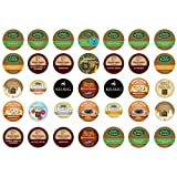 The Coffee Mix's Fabulous 35 K-cup Sampler Pack, You Are Guaranteed 35 Different K-cup Flavors, Flavored Coffees, Extra Bolds, Teas, Hot Cocoas, Apple Ciders, Iced Coffees, Iced Teas, Decafs Etc...by Green Mountain