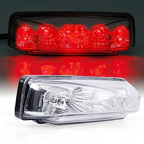 Brand New Universal Running Brake License Plate Led Motorcycle Bike Tail Light Clear