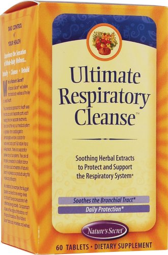 Natures Secret Respiratory Cleanse And Defense - Healthy Lungs And Bronchial Tract 60 Tablets