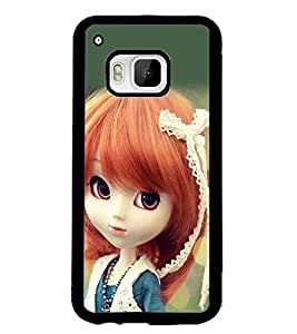 PrintDhaba Cute Doll D-1018 Back Case Cover for HTC ONE M9S (Multi-Coloured)
