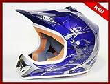 Helm Kinderhelm Motorradhelm Crosshelm Motocrosshelm Sport Blau M
