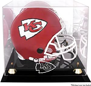 Kansas City Chiefs Golden Classic Helmet Display Case and Mirror Back