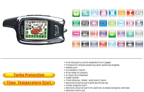 car remote start with 2 lcd remotes long range security
