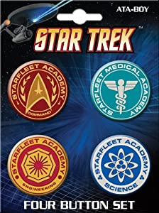 ATA-BOY Star Trek Classic Button-Pin (4-Pack)