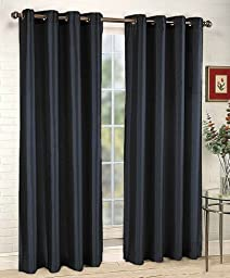 1 X 1kidandaheadache\'s Faux Silk Panel Drape Curtain Window Treatmeant 8 Grommets 55\