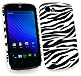 Emartbuy® LCD Screen Protector And Zebra Black / White Clip On Protection Case/Cover/Skin For ZTE Grand X
