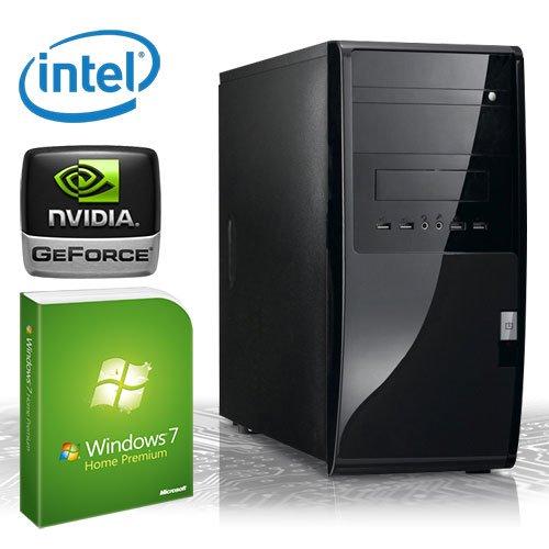 KCS [184407] - Silent-PC | Intel Dualcore G530 (2x 2400MHz) | 4GB DDR3-1333 | 500 GB SATA2 | nVidia Geforce GT 620 1024MB HDMI + DVI (DirectX11 + Bluray-3D) | ASUS P8B75-M LX | USB3.0 | 22xDVD-RW | 6-Kanal-Sound | Gigabit-LAN | Cardreader | 400W I Maus+Tastatur I Microsoft Windows 7 Home Premium 64-Bit