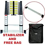 TELESCOPIC 3.8M STABILIZER ALUMINIUM FOLDABLE EXTENDABLE MULTI PURPOSE LADDER