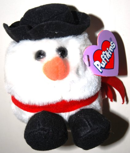 "Puffkins Flurry the Snowman 5"" Plush - 1"
