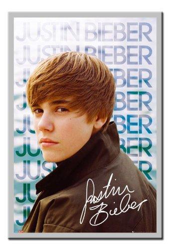 bieber poster. £16.99. Silver Framed Justin