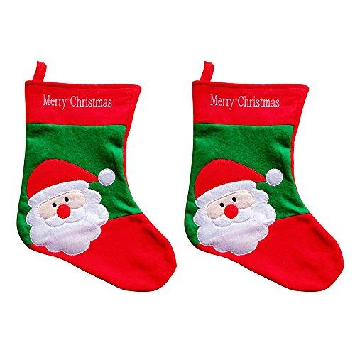 Aohro Calze di Natale con Babbo Natale Disegni Feste Casa