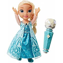 Frozen Disney's Sing Along Elsa with Light Up Necklace Doll