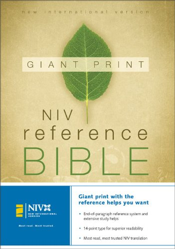 NIV Holy Bible Giant Print Reference Edition