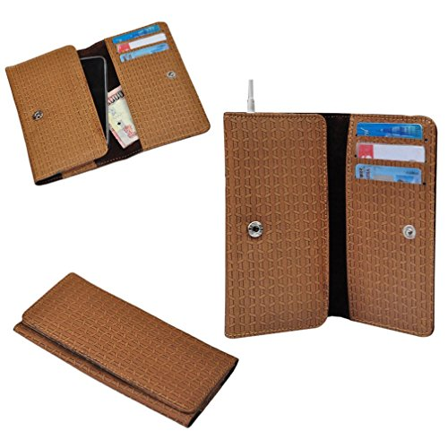 Ding Dong PU Leather Mobile Wallet Flip Pouch Case Cover For Karbonn A27 retina  available at amazon for Rs.289