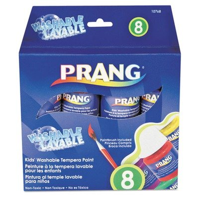 Prang  25ml  Assorted Washable Paint, 8 per Set (DIX10768) - 1
