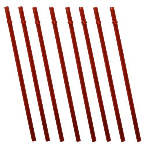 Orange Replacement Acrylic Straw Set Of 8, For Tumblers 16Oz, 20Oz, 24Oz