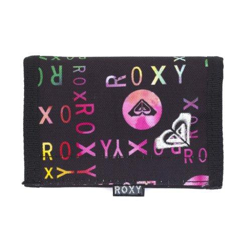 Roxy Womens Girls Tri Fold Purse Wallet - Small Beach True Black Logo