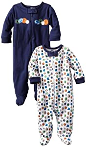 Gerber Baby-Boys 2 Pack Sleep N Play Zip Front Sports by Gerber