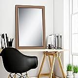 Elegant Arts & Frames Silver Wall Decorative Wooden Mirror 36 Inch X 24 Inch