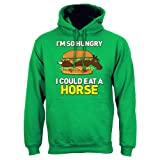 I'm So Hungry I Could Eat A Horse Mens Hoodie