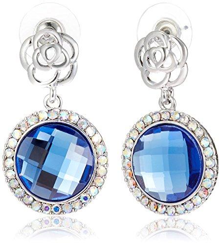 NewU Silver Plated Dangle Earrings