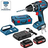 Bosch GSB 18V-LI 18v Combi Drill 2 x 2.0Ah Li-Ion C/W Wireless Charger