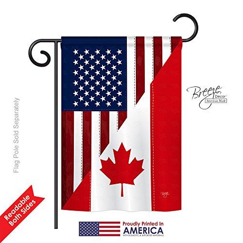 US Canada Friendship Garden Flag 13
