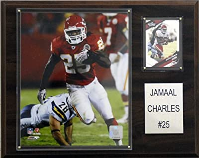 NFL Jamaal Charles Kansas City Chiefs Player Plaque