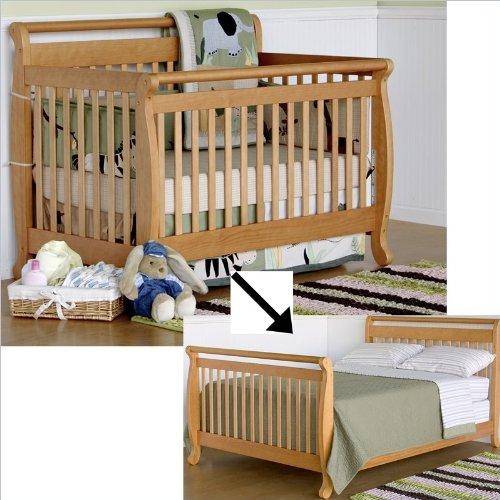 Davinci Emily 4-In-1 Convertible Crib Set W/ Full/Twin Size Rail In Honey Oak front-1049627