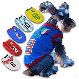 【StoneUp】 ドッグウェア サッカー ユニフォーム 犬 服 【アルゼンチン S】