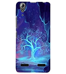 ColourCraft Glowing Tree Design Back Case Cover for LENOVO A6000 PLUS