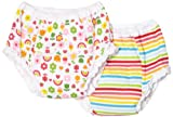 Carters Girls 2-6x Rainbow 2 Pair Pack Training Pant