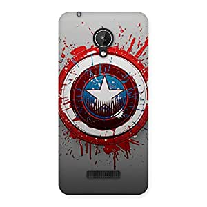Stylish Blood Red Round Back Case Cover for Micromax Canvas Spark Q380