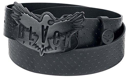 Black Premium by EMP Scratched Leather Belt Cintura nero 100 cm