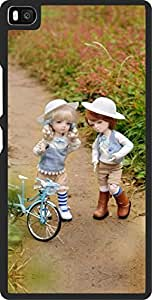 Dot Print Back Cover For Huawei P8 Cute Friends Printed Case