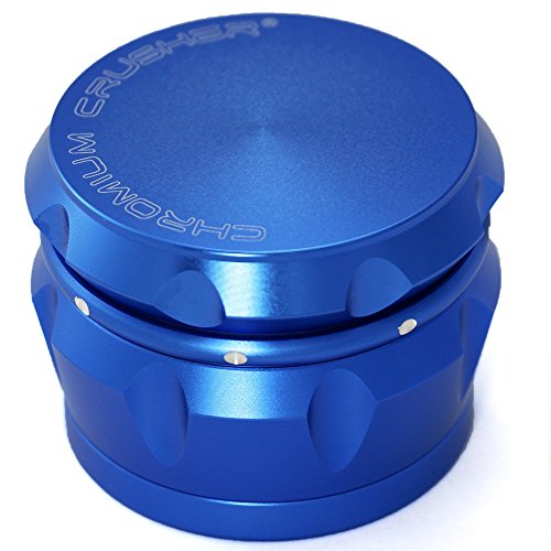 Best Price Chromium Crusher Drum 2.5 Inch 4 Piece Tobacco Spice Herb Grinder -Metalic Blue